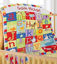 Personal Creations ® Bright & Cheery ABC's Quilt