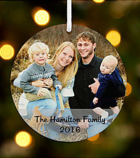 Personal Creations ® Photo Message Round Ornament