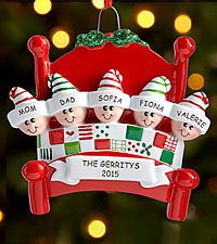 Personal Creations ® Snuggle Up Family Ornament