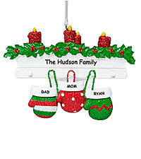 Personal Creations ® Mitten Family Ornament - 3
