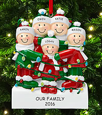 Personal Creations ® Tangled in Lights Family Ornament