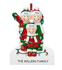 Personal Creations ® Tangled in Lights Family Ornament - 3