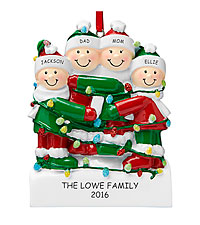 Personal Creations ® Tangled in Lights Family Ornament - 4