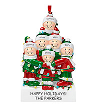 Personal Creations ® Tangled in Lights Family Ornament - 6