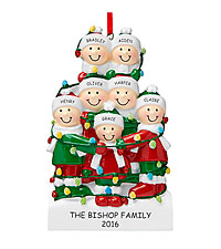 Personal Creations ® Tangled in Lights Family Ornament - 7