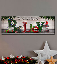 Personal Creations ® TwinkleBright™ LED Believe Canvas