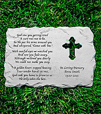 Personal Creations ® Cross Memorial Stone