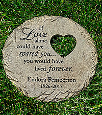 Personal Creations ® Memorial Heart Cut-out Stepping Stone