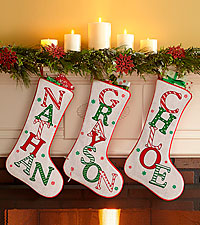 Personal Creations ® Festive Name Christmas Stocking