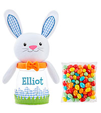 Personal Creations ® Easter Sweeties Plush Treat Jar - Blue Bunny with Candy