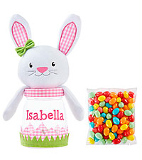 Personal Creations ® Easter Sweeties Plush Treat Jar - Pink Bunny with Candy