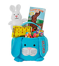 Personal Creations ® Furry Friend Easter Basket - Blue Bunny with Candy