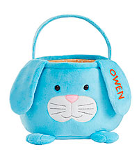 Personal Creations ® Furry Friend Easter Basket - Blue Bunny