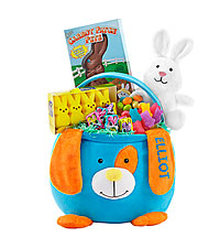 Personal Creations ® Furry Friend Easter Basket - Dog with Candy