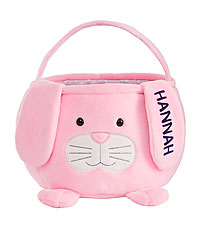 Personal Creations ® Furry Friend Easter Basket - Pink Bunny