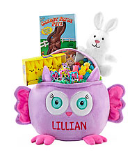 Personal Creations ® Furry Friend Easter Basket - Owl with Candy