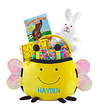 Personal Creations ® Furry Friend Easter Basket - Bumble Bee with Candy