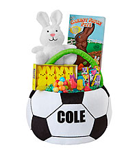 Personal Creations ® Sports Star Basket - Soccer with Candy