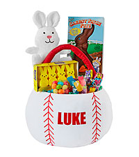 Personal Creations ® Sports Star Basket - Baseball with Candy