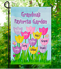 Personal Creations ® Tulip Garden Flag