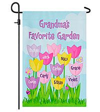 Personal Creations ® Tulip Garden Flag with Stake