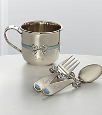 Personalized Baby Boy Feeding Set