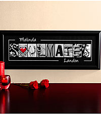 Personal Creations ® Personalized Soulmates Framed Print