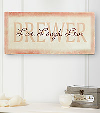 Personal Creations ® Personalized Live, Laugh, Love Canvas