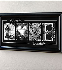 Personal Creations ® Personalized Love Framed Print
