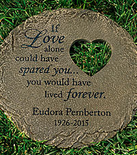 Personal Creations ® Personalized Memorial Heart Cut-out Stepping Stone