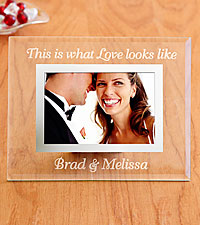 Personal Creations ® Personalized This is what Love Looks Like Glass Frame