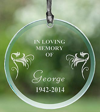 Personalized Loving Memory Glass Suncatcher
