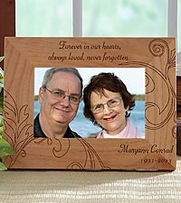 Personalized Never Forgotten Wood Frame