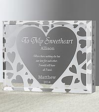 Personalized You're All I Need Romantic Acryllic Keepsake