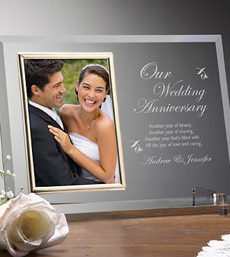 Personalized Anniversary Memories Glass Frame