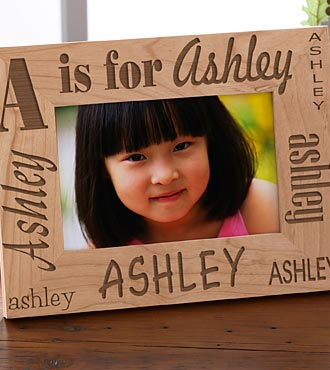 Personalized Alphabet Name Wood Frame