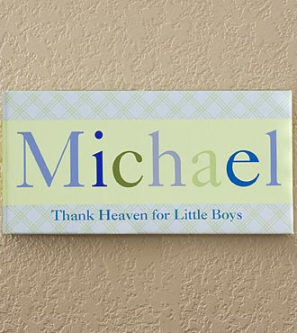 Personalized Just For Them Name Art Canvas Print - Boy