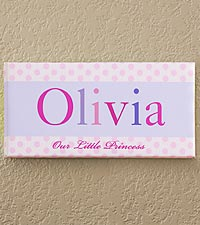 Personalized Just For Them Name Art Canvas Print - Girl