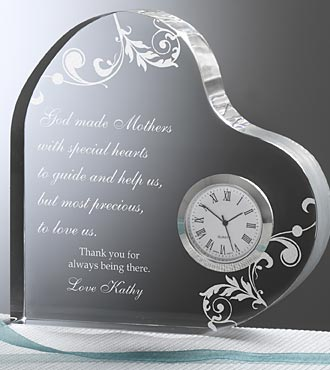Personalized Dear Mom Heart Clock