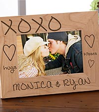 Personalized Hugs & Kisses Wood Frame