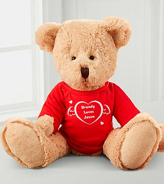 Personalized Ty&reg; Heart Teddy Bear
