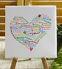 Personalized Heart of Love Canvas
