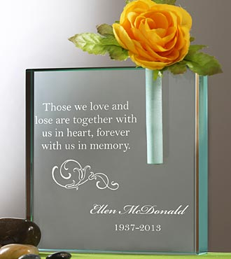 Personalized in Loving Memory Bud Vase