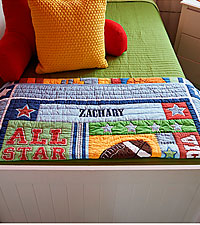 Personal Creations ® Baby Quilt - Sports