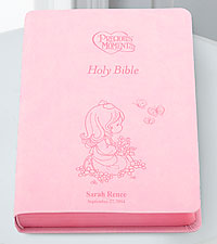 Personal Creations ® Precious Moments Holy Bible-Pink