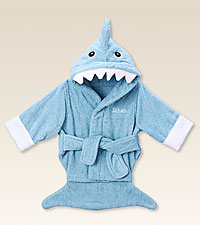 Personal Creations ® Blue Shark Robe