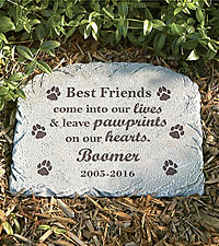Personal Creations ® Pawprints In Heaven Memorial Marker - Dog