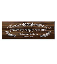 Personal Creations ® You Are My Happily Ever After Canvas - Brown