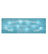 Personal Creations ® TwinkleBright™ LED You Are My Happily Ever After Canvas - Light Blue