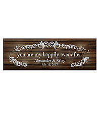 Personal Creations ® TwinkleBright™ LED You Are My Happily Ever After Canvas - Brown